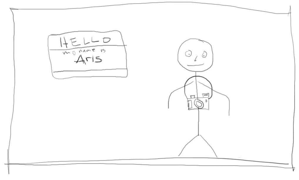 stick figure of Aris